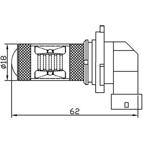 Протитуманна LED лампа UP-7G-9006WB(HB4)-30W (біла, 12-24 В) Прев'ю 1