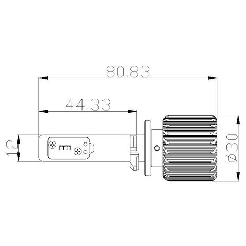 Набір світлодіодного головного світла UP-7HL-880W-4000Lm (880, 4000 лм, холодний білий) Прев'ю 1
