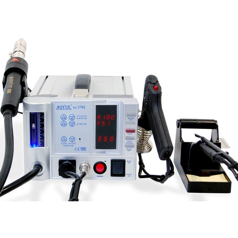 Lead-Free Hot Air Soldering Station AOYUE 2702 with Soldering Gun Preview 3